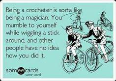 Crochet quote @Katie Hrubec Schmeltzer Schmeltzer Schmeltzer Schmeltzer Oneil I'm McGonagall!
