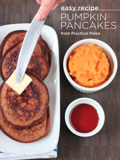 "Paleo Pumpkin Pancakes from ""Practical Paleo""   Diane Sanfilippo"