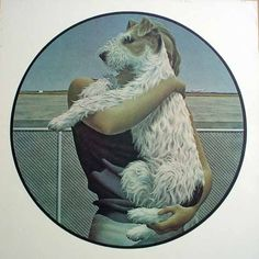 """Woman and Terrier"" Alex Colville, 1963"