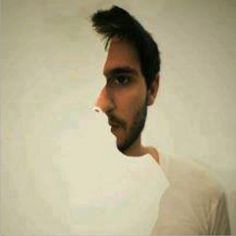 Double Head Illusion - Which face did you see first? Face forward or face to the side? Ambiguous Images. #illusion