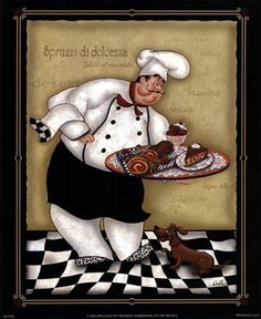 Neoteric Chef Wall Decor Art Print Fat Kitchen Oven Wallpaper And Grill Hd Electric Manual Part Fat Chef Kitchen Decor, Bistro Kitchen, Kitchen Themes, Kitchen Oven, Kitchen Ideas, Decoupage Vintage, Decoupage Paper, Vintage Diy, Chef Pictures