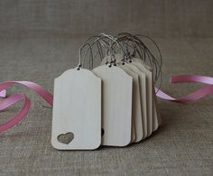 Blank wooden tags   set of 100  wedding gift tags  by NeliStudio