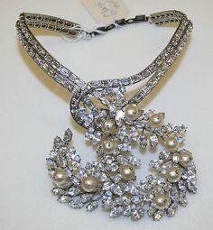 Necklace  House of Dior Yves Saint Laurent  Date: ca. 1960    Medium: metal, glass, plastic