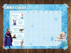 Frozen Toddler Reward Chart / Behaviour Chart / Chore Chart / Instand Download / Routine