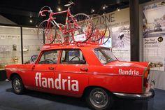 retrobikesarebetterthanfixies:  Flandria team car, Centrum Ronde van Vlaanderen cycling museum, , Belgium