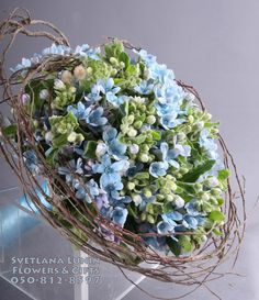 the wedding bouquet executed by Svetlana Lunin