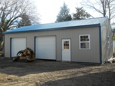 """Building Dimensions: 24' W x 40' L x 10' 6"""" H (ID# 403)  Visit: http://pioneerpolebuildings.com/portfolio/project/24-w-x-40-l-x-10-6-h-id-403-total-cost-15790  Like Us on Facebook! https://www.facebook.com/Pioneer.Pole Call: 888-448-2505 for any questions!"""