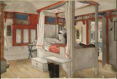 Carl Larsson, La chambre de Papa Aquarelle pour l'album « Notre Maison », 1894-1896. © Nationalmuseum Stockholm