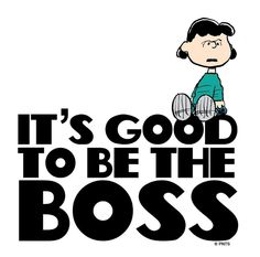 It's good to be the boss.