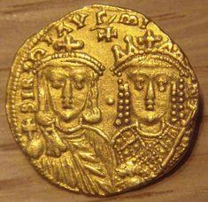 Gold Solidus of Konstantinos VI with his mother Irene of Athens. 780-790 Monnaie de Paris Soldo em ouro de Constantino VI com a sua mãe Irene de Atenas. 780-790 Monnaie de Paris #GoldCoins