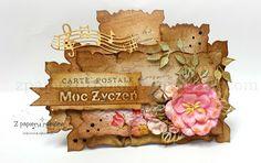 kartka urodzinowa/ birthday card Place Cards, Scrapbooking, Place Card Holders, Vintage, Vintage Comics, Scrapbooks, Memory Books, Scrapbook, Notebooks