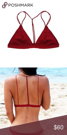 S.I.E Candace Top Cute Red Top! Swim or could be a cute bralette! Never worn but no tags attached. S.I.E Swim Swim Bikinis