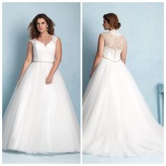 Allure w350 - Tulle skirt with lace top and swavorski crystals covering the back part of dress!  Beautiful!! Marry & Tux Bridal, Marry & Tux Bridal Shoppe, Marry & Tux Nashua, NH, Marry & Tux