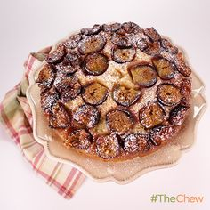 Fig Upside Down Cake by Carla Hall. It's a dig dessert so good, your friends will think you're veritable iron chef! #TheChew #Dessert