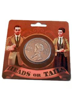 """BioShock Infinite Lutece Coin via the Irrational Games Store - """"Heads, or Tails?"""""""