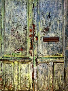 Weathered door in San Miguel Dr allende