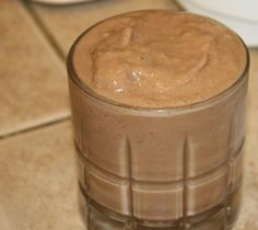 Funky Monkey Smoothie (Super Easy) from Food.com: This is my favorite smoothie! Great for breakfast or mid-afternoon snack. I always have all these things in my house already. The PB adds a protein boost while the small amount of chocolate makes me feel like I'm cheating! Oh yeah, my little ones Love this one too.