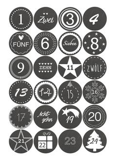 Adventskalender Sticker Schieferoptik Advent Calendar Numbers to check The post Adventskalender Sticker Schieferoptik appeared first on Adventskalender ideen. Christmas Calendar, Noel Christmas, Christmas Countdown, Christmas And New Year, Winter Christmas, Christmas Crafts, Christmas Decorations, Xmas, Holiday