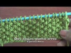 Vídeo. Dos agujas: punto arroz