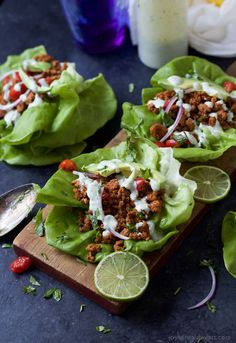 Ground-Turkey-Tacos-in-Lettuce-Wraps-with-Cilantro-Lime-Crema-3.jpg (715×1041)