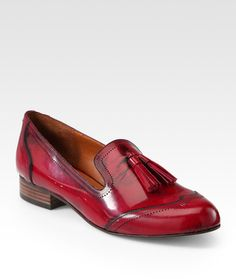 Dolce Vita Red Bronx Leather Loafers