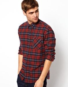 Selected Flannel Shirt With Check. Great, staple flannel. Good color for you