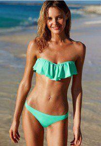f0d25d4fc88 swimwear with ruffles Vs Bikini, Μπικίνι Σε Στυλ Bandeau, Bikini Set,  Beleza,