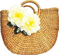 perfect for a Key West trip Fashion Handbags, Fashion Bags, Hermes, Straw Bag, Bag Accessories, Purses And Bags, Hand Weaving, Key West, Peony
