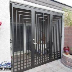 Elegant back of the house security - Escher Entryway - Yelp Window Grill Design, Fence Design, Grand Entryway, Iron Gate Design, Steel Security Doors, Wrought Iron Doors, Entrance Gates, Steel Doors, Windows And Doors