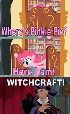 (Firebrand:I have seen things no pony should have to witness. And this pink pony is the scariest thing to date. If she where to become evil we would all be doomed. Don't get me wrong pinkies parties are amazing she just freaks me out. During security checks she comes out of your pockets. We don't even wear pants!)