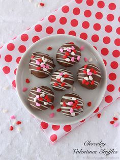Chocoley Valentine Truffles by www.cookingwithruthie.com will inspire you to make your own chocolates this year!