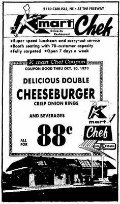 Kmart Cafeteria 1980's Vintage Menu, Vintage Ads, Vintage Stores, Vintage Stuff, Vintage Signs, Vintage Items, Retro Advertising, Vintage Advertisements, Retro Ads