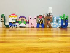 Disney Letters by mommycreationsAGS on Etsy Toy Story Theme, Toy Story Party, Toy Story Birthday, 2nd Birthday Parties, Cumple Toy Story, Festa Toy Story, Toy Story Bedroom, Disney Letters, Character Letters