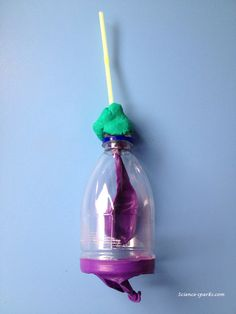 Another great activity shared at Science Sparks!  Use a plastic bottle and a balloon to demonstrate how the lungs work!
