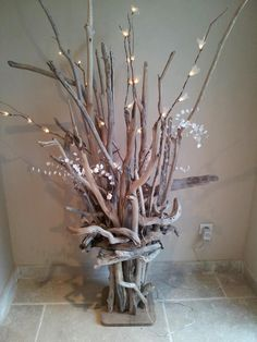 Bois naturel on pinterest logs driftwood mirror and - Idee deco bois flotte ...