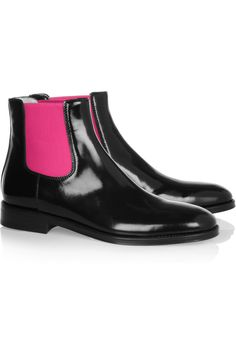 Christopher Kane Fluoro polished leather Chelsea boots NET-A-PORTER.COM