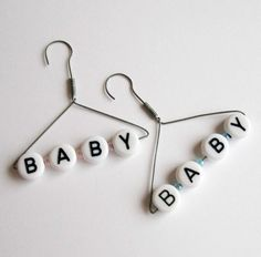 Miniature Baby Hanger by CardBlanc on Etsy