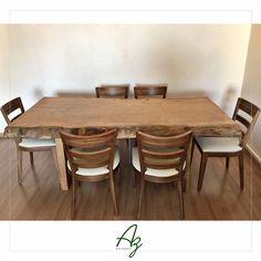 Mesas de jantar em madeira maciça fabricadas artesanalmente! Az arte natural - Móveis em madeira, feitos a mão.
