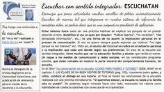 LOS EDUCADORES COMPETENTES: ESCUCHATAN