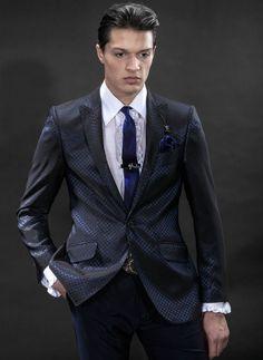 blue tie black suit - Google Search