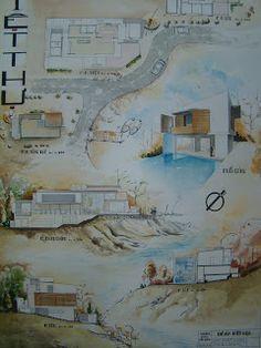 Landscape Architecture Portfolio, Architecture Artists, Architecture Concept Drawings, Architecture Sketchbook, Architecture Design, Koshino House, Presentation Layout, Architectural Presentation, House Sketch