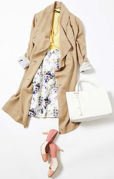 This week's lesson: to incorporate pastel colors (Lumine Ikebukuro) Casual Hijab Outfit, Business Casual Outfits, Daily Fashion, Spring Fashion, Autumn Fashion, Skirt Fashion, Fashion Outfits, Womens Fashion, Color Combinations For Clothes