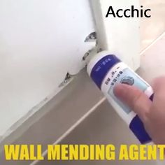 Having damages, cracks, holes or stains on your wall? There is a quick and easy solution - The Ultra Wall Repair Sealant Solid Surface, Boyfriend Crafts, Boho Home, Home Security Systems, Being A Landlord, Spring Cleaning, Home Improvement Projects, Clean House, Cleaning Hacks