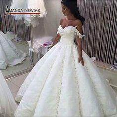 2017 Hot Design Ball Gown Satin Wedding Dress