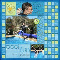 Pool fun by Lindsay Jane.  I like the mosaic tiles