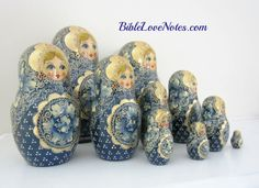 1-Minute Bible Love Notes: Russian Stacking Dolls