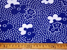 Vintage 1950's J. Manes Cotton Fabric by PastFabricBlessings