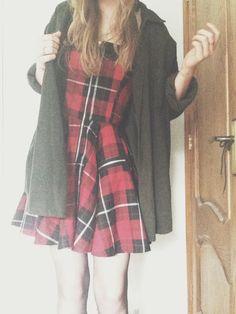 New tartan dress for my birthday, I love it