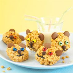 Adorable Peanut Butter #Bears - Cute food for #kids