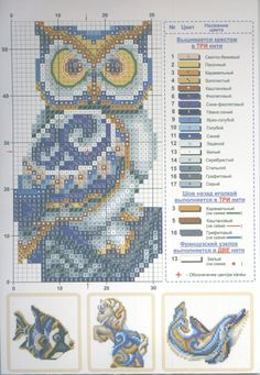Cross Stitch Owl, Cross Stitch Bookmarks, Cross Stitch Cards, Beaded Cross Stitch, Cross Stitch Animals, Cross Stitch Kits, Counted Cross Stitch Patterns, Cross Stitch Designs, Cross Stitching